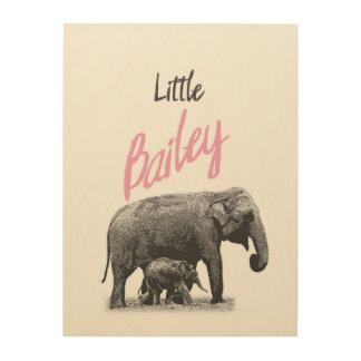 "Personalized ""Little Bailey"" Wood Wall Art"