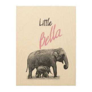 """Personalized """"Little Bella"""" Wood Wall Art"""