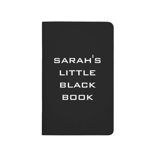 Personalized Little Black Book Journal
