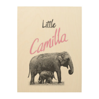 "Personalized ""Little Camilla"" Wood Wall Art"