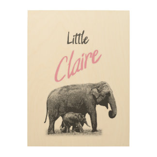 """Personalized """"Little Claire"""" Wood Wall Art"""