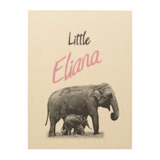 "Personalized ""Little Eliana"" Wood Wall Art"