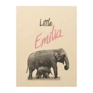 "Personalized ""Little Emilia"" Wood Wall Art"