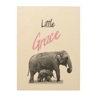 """Personalized """"Little Grace"""" Wood Wall Art"""