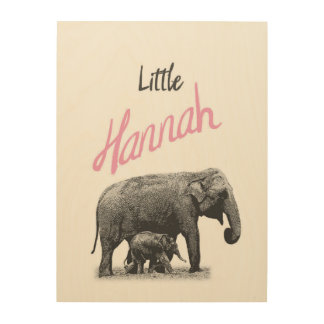 "Personalized ""Little Hannah"" Wood Wall Art"
