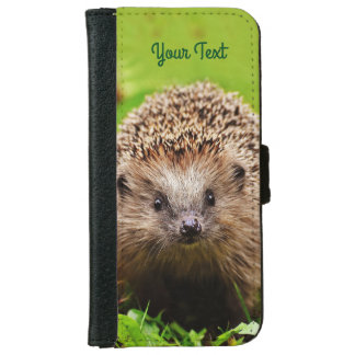 Personalized Little Hedgehog in the Forest iPhone 6 Wallet Case