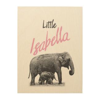 "Personalized ""Little Isabella"" Wood Wall Art"