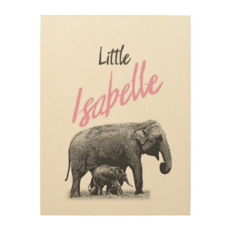 """Personalized """"Little Isabelle"""" Wood Wall Art"""