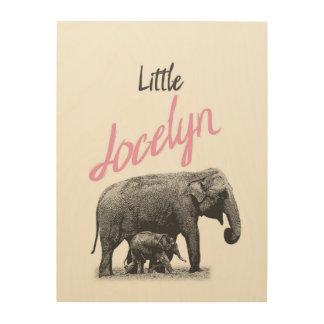 """Personalized """"Little Jocelyn"""" Wood Wall Art"""