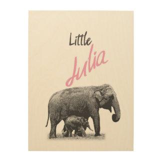 "Personalized ""Little Julia"" Wood Wall Art"