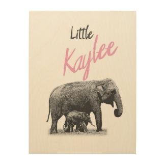"Personalized ""Little Kaylee"" Wood Wall Art"