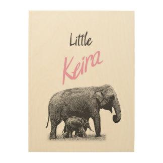 "Personalized ""Little Keira"" Wood Wall Art"