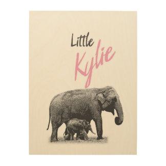 "Personalized ""Little Kylie"" Wood Wall Art"