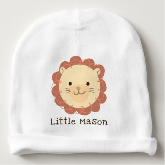 Personalized Little Lion Baby Beanie Hat