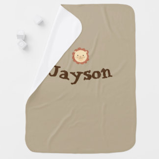 Personalized Little Lion Baby Blanket