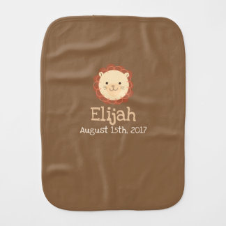 Personalized Little Lion Baby Burp Cloth