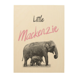 "Personalized ""Little Mackenzie"" Wood Wall Art"