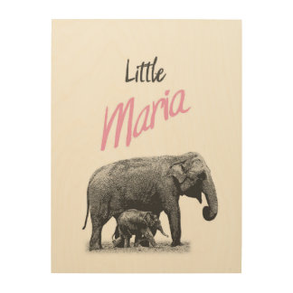"""Personalized """"Little Maria"""" Wood Wall Art"""