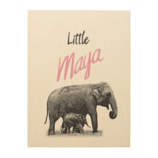 """Personalized """"Little Maya"""" Wood Wall Art"""