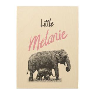 """Personalized """"Little Melanie"""" Wood Wall Art"""