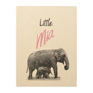 "Personalized ""Little Mia"" Wood Wall Art"