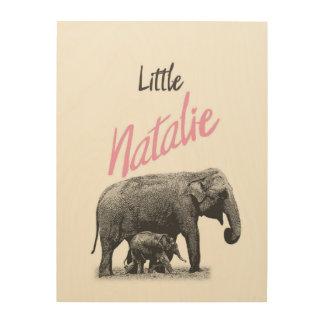 "Personalized ""Little Natalie"" Wood Wall Art"