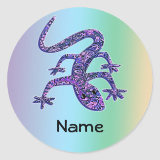 Personalized Lizard / Gecko / Salamander Stickers