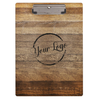 Personalized logo woodgrain clipboard