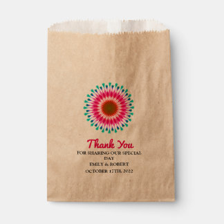 Personalized Lotus Fall Wedding Favour Bag