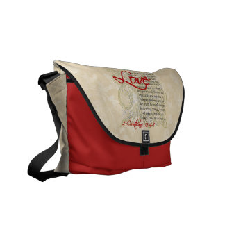 Personalized Love Bible Verse Christian Messenger Messenger Bag