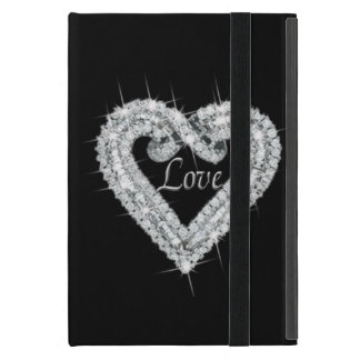 Personalized Love Diamond Heart iPad Mini Case