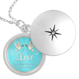 Personalized Love Dove Necklace or Locket