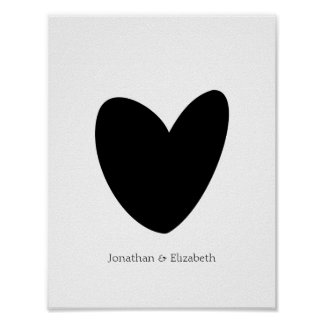 Personalized Love Heart Print