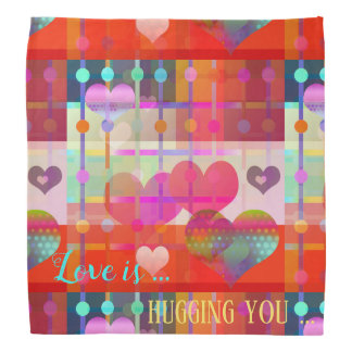 Personalized Love Is Colorful Pattern Bandana