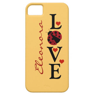 personalized love ladybug iPhone 5 cover