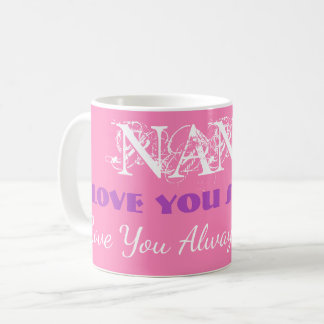 "Personalized ""Love You So Much Nana"" Coffee Mugs"