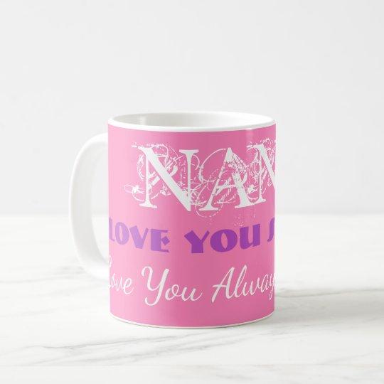 "Personalized ""Love You So Much Nana"" Coffee Mugs"