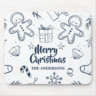 Personalized Lovely Christmas Sketch | Mousepad