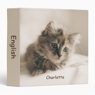 Personalized Lovely Sweet Cat Kitten Kitty Binder