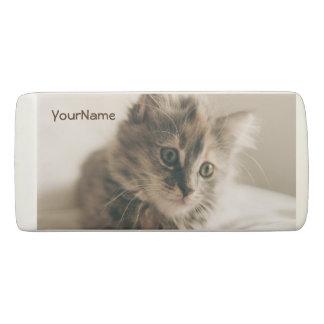 Personalized Lovely Sweet Cat Kitten Kitty Eraser