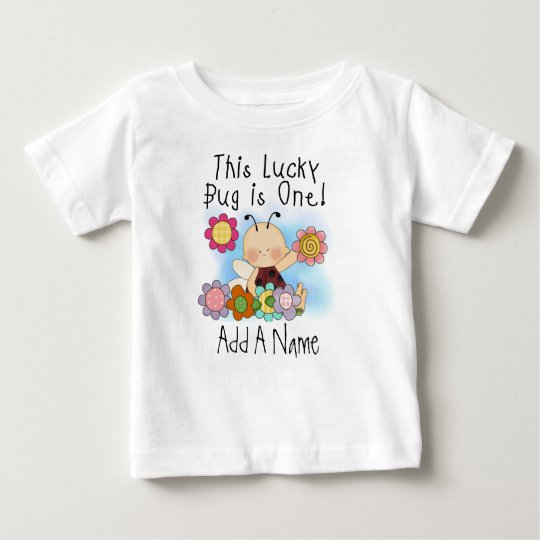 Personalized Lucky Bug First Birthday Tshirt