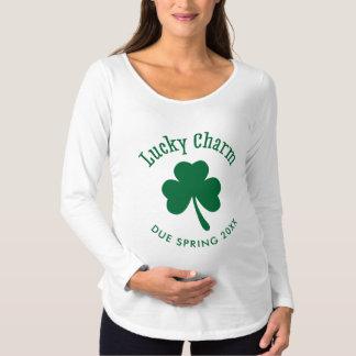 Personalized Lucky Charm Irish Maternity Shirt