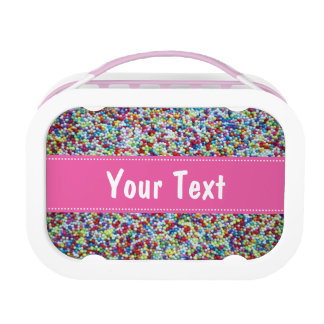 Personalized lunch box for girls | sprinkles print