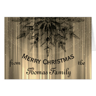 Personalized Luxury Family Christmas Card