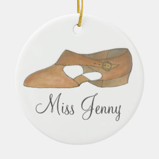 Personalized Lyrical Dance Shoe Teacher Ornament