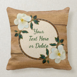 Personalized Magnolia Home Decor Gifts Throw Pillow