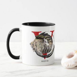 Personalized Majestic Lion and Waterfall Mug