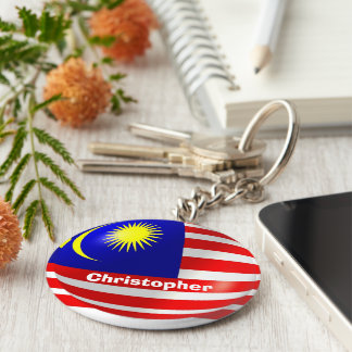 Personalized Malaysian Flag Design Keychain