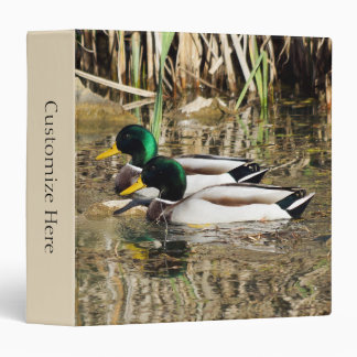 Personalized Mallard Ducks One Touch Ring Binder