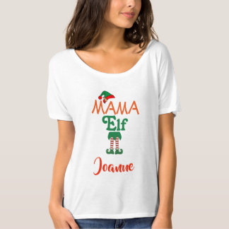 Personalized MAMA Elf T-Shirt